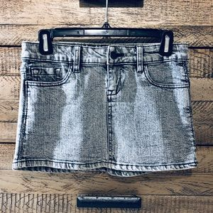 Lip Service Skirts - Lip service grey acid wash denim mini skirt XS